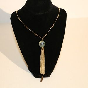 The Limited Gold Toned tassel Necklace J37